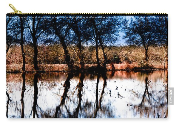 Blue Mirror Carry-all Pouch