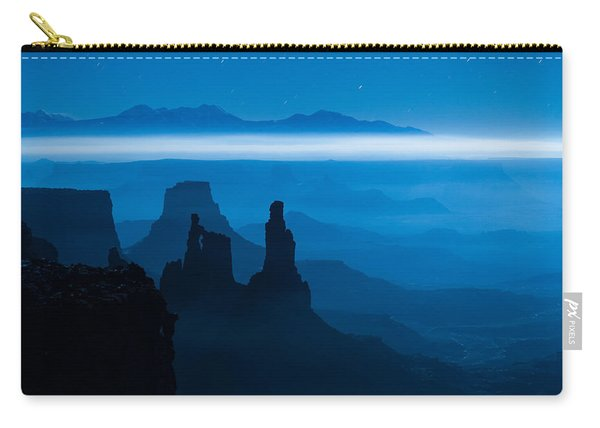 Carry-all Pouch featuring the photograph Blue Moon Mesa by Dustin  LeFevre