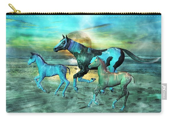 Blue Ocean Horses Carry-all Pouch