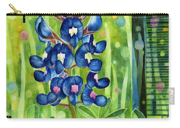Blue Tapestry Carry-all Pouch