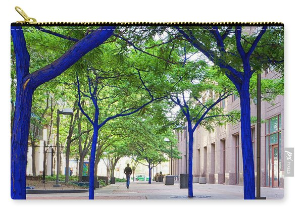 Carry-all Pouch featuring the photograph Blue Tree Walkway by Mary Lee Dereske