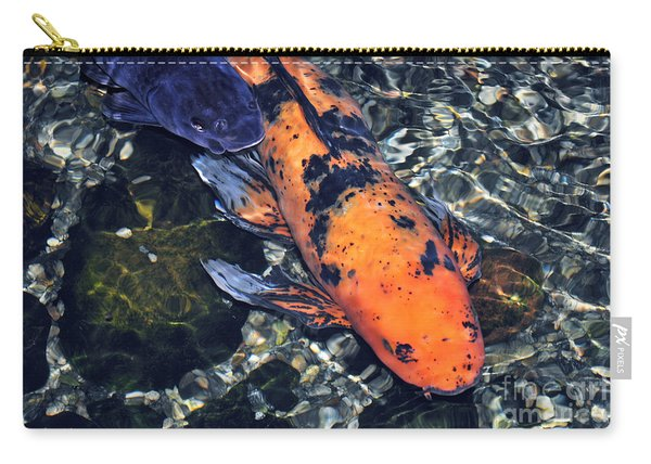 Blue Velvet And Goldie Koi Carry-all Pouch
