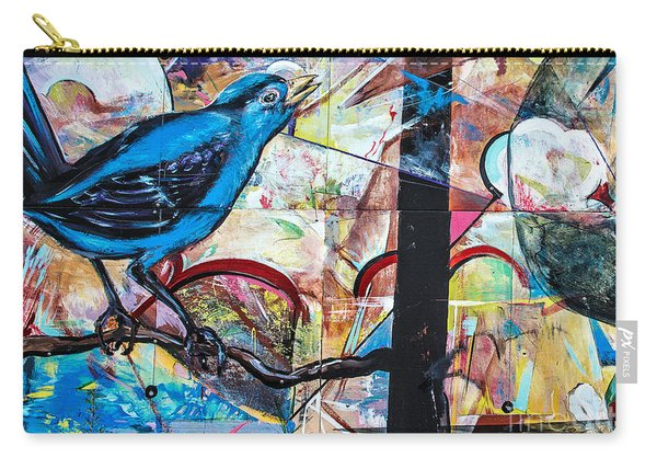 Bluebird Sings With Happiness Carry-all Pouch