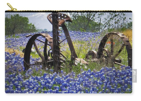 Bluebonnets On The Farm Carry-all Pouch