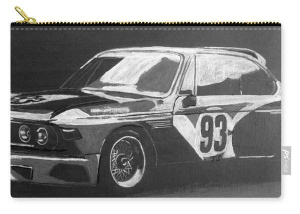 Carry-all Pouch featuring the painting Bmw 3.0 Csl Alexander Calder Art Car by Richard Le Page