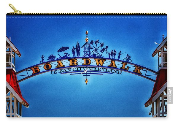 Boardwalk Arch In Ocean City Carry-all Pouch