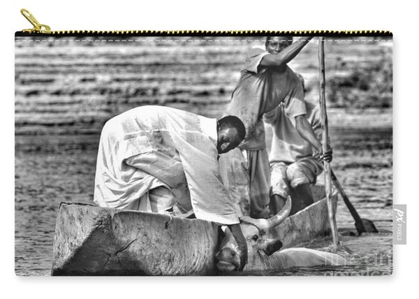 Boat And Cow  Carry-all Pouch