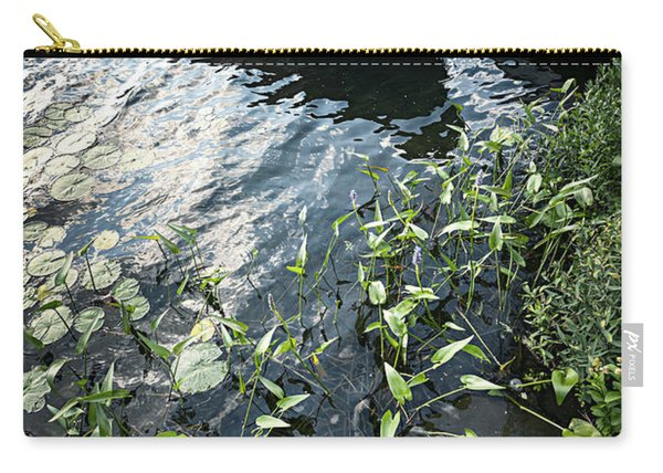 Boat At Dock On Lake Carry-all Pouch