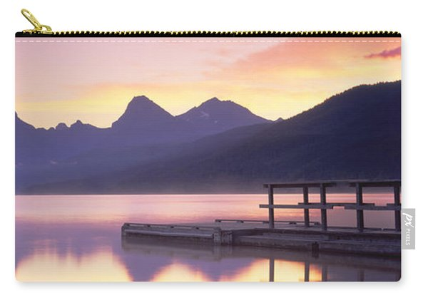 Boat Dock At Lake Mcdonald, Glacier Carry-all Pouch