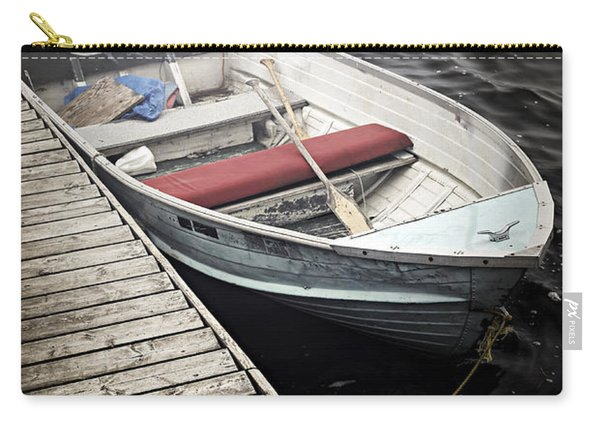 Boat In Fog Carry-all Pouch