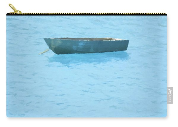 Boat On Blue Lake Carry-all Pouch
