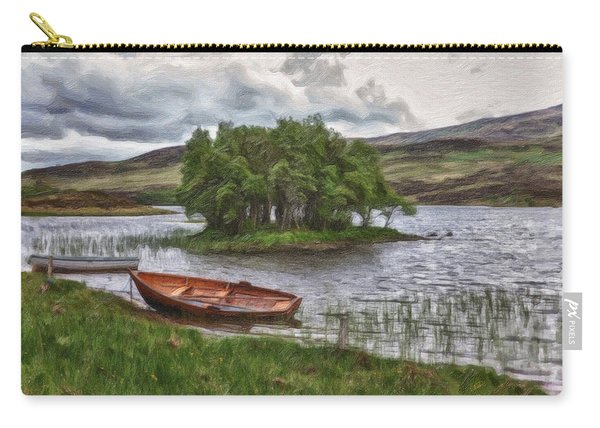 Boat On Lake Bank 1929 Carry-all Pouch