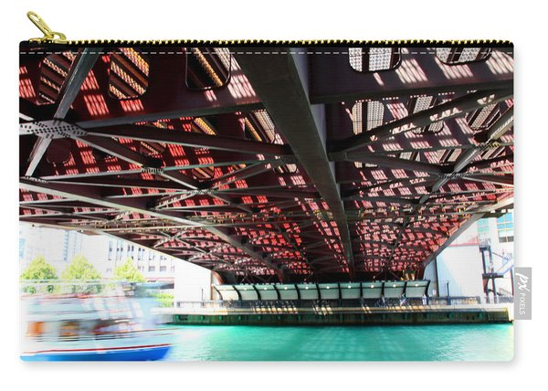 Boat Under Steel Bridge Carry-all Pouch