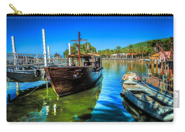 Boats At Kibbutz On Sea Galilee Carry-all Pouch