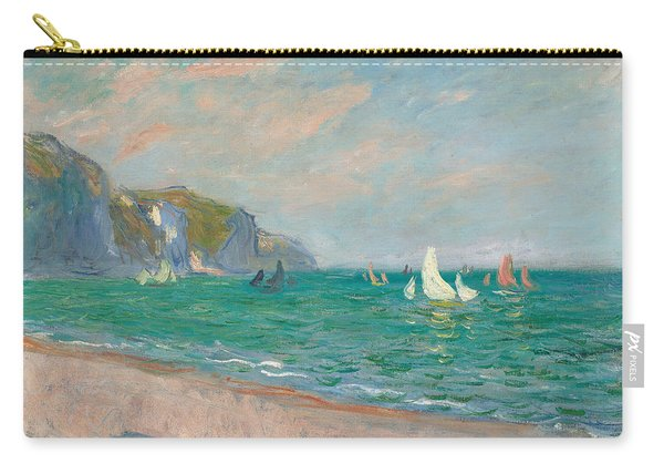 Boats Below The Pourville Cliffs Carry-all Pouch