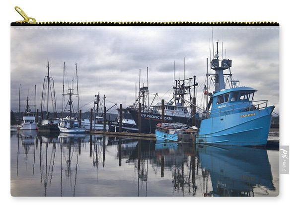 Boats In Harbor Newport Oregon Carry-all Pouch