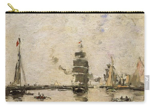 Boats In Trouville Harbor Carry-all Pouch