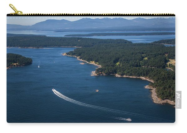 Boats Off The Coast Of Vancouver Island Carry-all Pouch