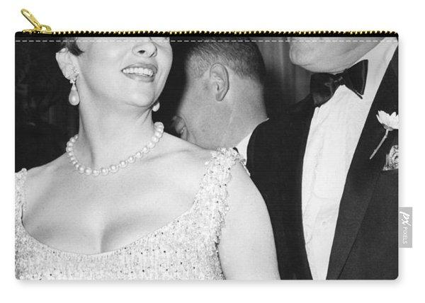 Bob Hope And Gina Lollobrigida Carry-all Pouch