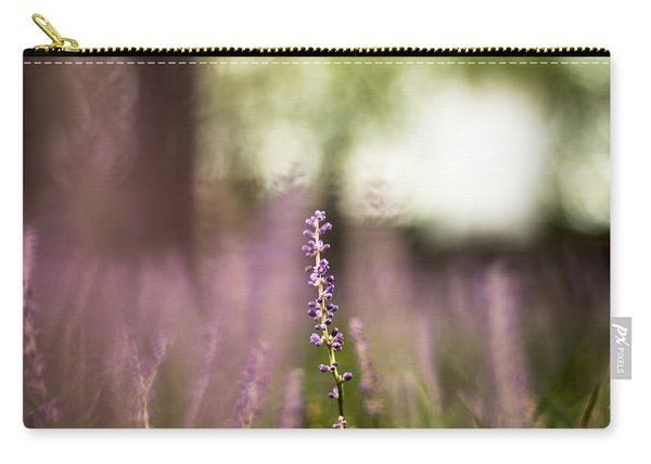 Bokeh With Purple Wildflower Carry-all Pouch