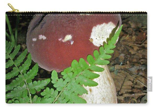 Bolete Mushroom And Fern Carry-all Pouch
