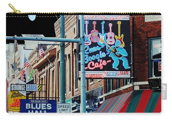 Boogie On Beale St Memphis Tn Carry-all Pouch