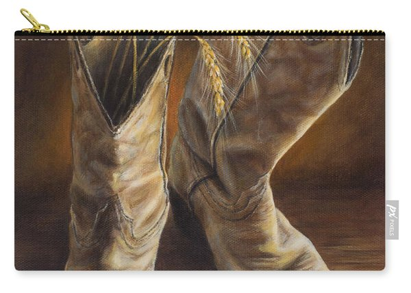 Boots And Wheat Carry-all Pouch