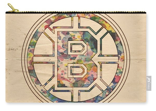 Boston Bruins Poster Art Carry-all Pouch