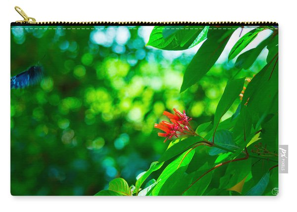 Botanical Garden Butterfly Carry-all Pouch