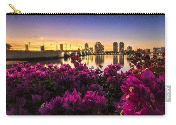 Bougainvillea On The West Palm Beach Waterway Carry-all Pouch