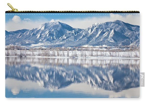 Boulder Reservoir Flatirons Reflections Boulder Colorado Carry-all Pouch