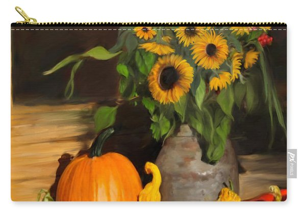 Bountiful Harvest - Floral Painting Carry-all Pouch