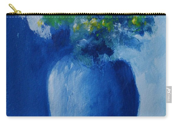 Bouquet In Blue Shadow Carry-all Pouch