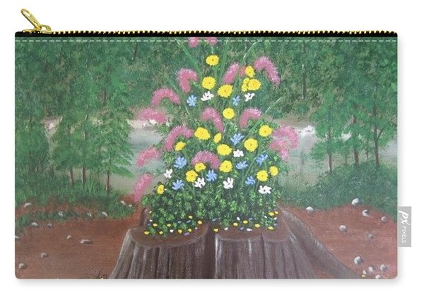 Bouquet On A Stump Carry-all Pouch