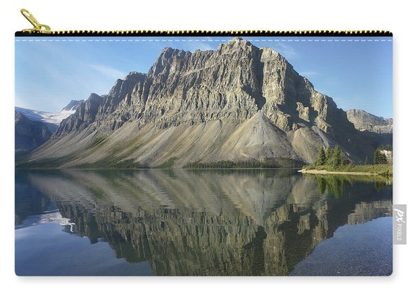Bow Lake And Crowfoot Mts Banff Carry-all Pouch