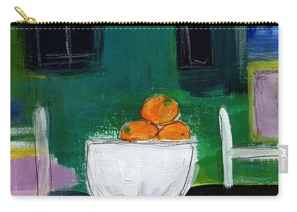 Bowl Of Oranges- Abstract Still Life Painting Carry-all Pouch