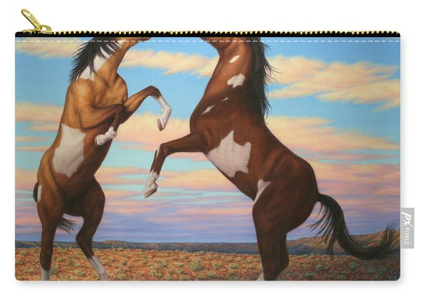 Boxing Horses Carry-all Pouch