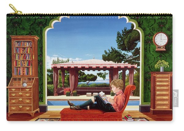 Boy Reading Carry-all Pouch
