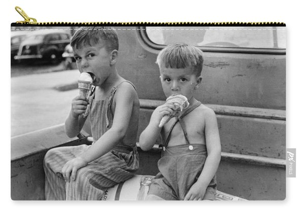 Boys Eating Ice Cream Cones Carry-all Pouch