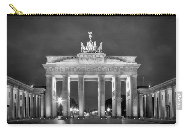 Brandenburg Gate Berlin Black And White Carry-all Pouch