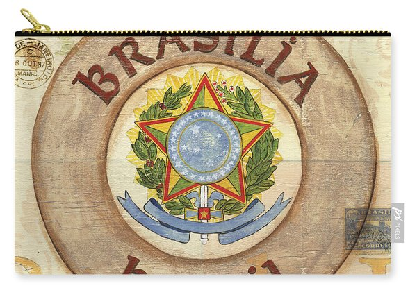 Brazil Coat Of Arms Carry-all Pouch