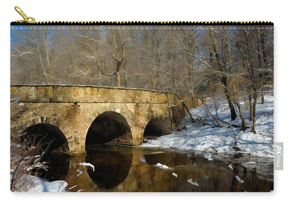 Bridge In Woods Carry-all Pouch