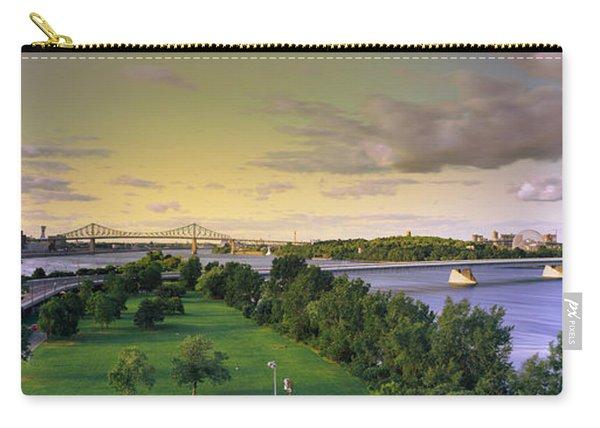 Bridges Across A River, Jacques Cartier Carry-all Pouch