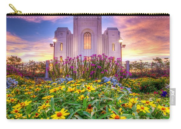 Carry-all Pouch featuring the photograph Brigham City Temple by Dustin  LeFevre