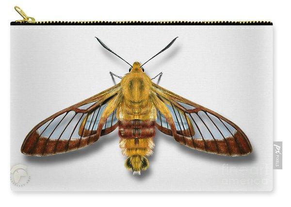 Broad-bordered Bee Hawk Moth Butterfly - Hemaris Fuciformis Naturalistic Painting -nettersheim Eifel Carry-all Pouch