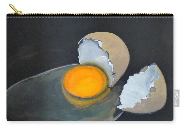 Carry-all Pouch featuring the painting Broken Egg by Richard Le Page
