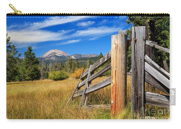 Broken Fence And Mount Lassen Carry-all Pouch