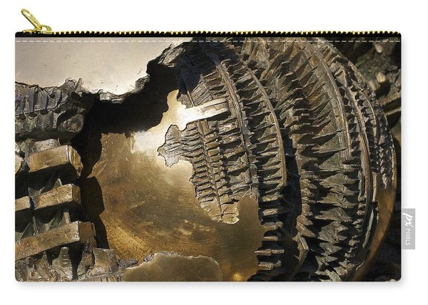 Bronze Abstract Carry-all Pouch