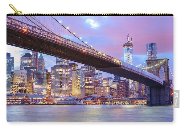 Brooklyn Bridge And New York City Skyscrapers Carry-all Pouch