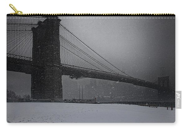 Brooklyn Bridge Blizzard Carry-all Pouch